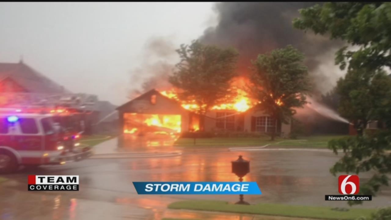 Firefighters: Lightning Likely Sparked House Fire Near Jenks