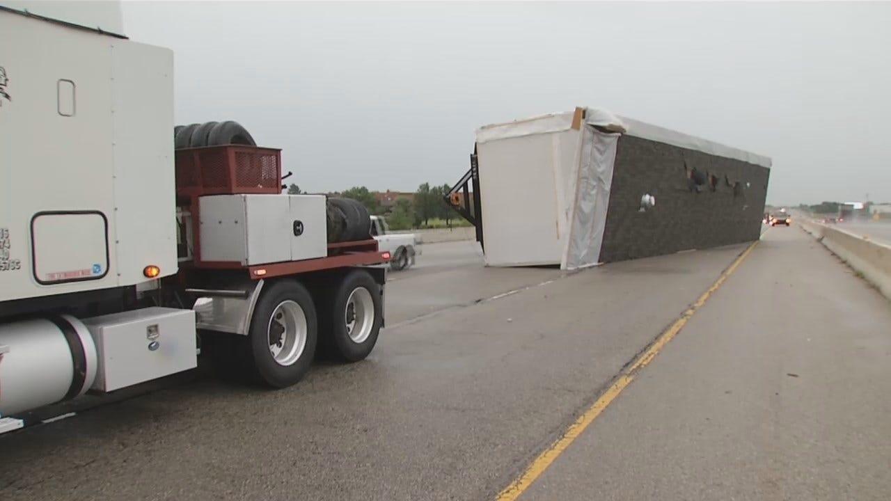 WEB EXTRA: Overturned Over-Sized Load On BA Expressway
