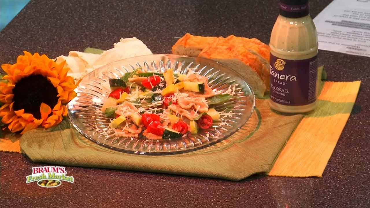 Summer Vegetable Caesar Pasta Salad