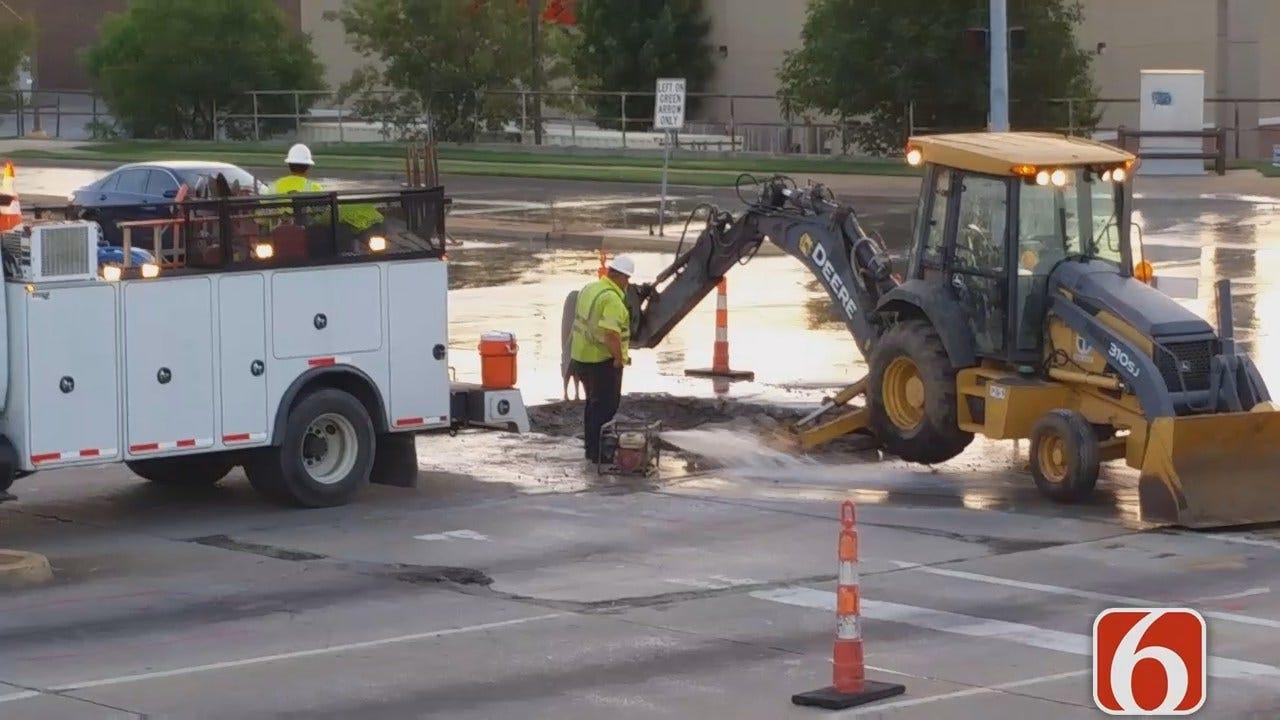 Dave Davis Reports On Tulsa Water Line Repairs