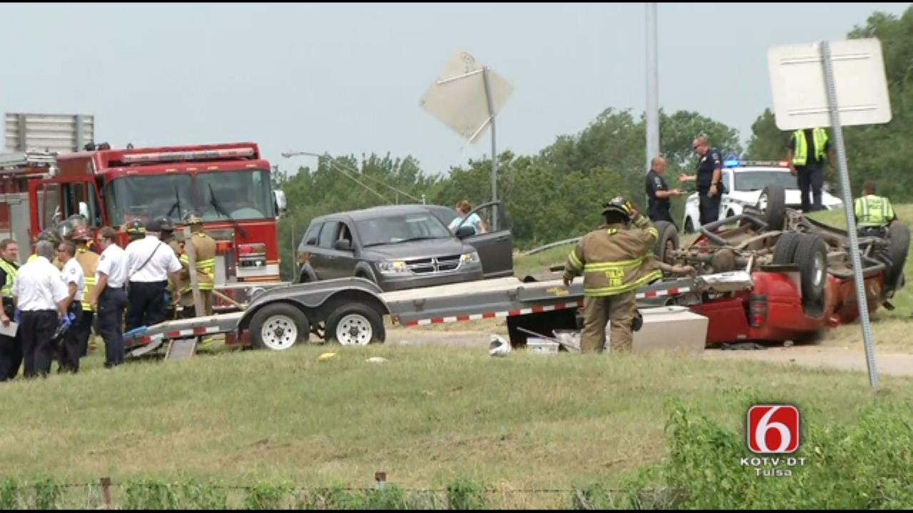 WEB EXTRA: Rollover Wreck On Sand Springs Expressway