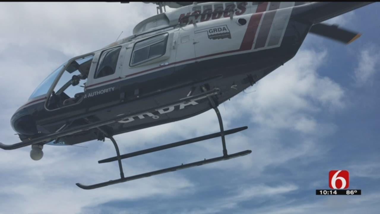 GRDA Helicopter Serves As Police Department's 'Eye In The Sky'