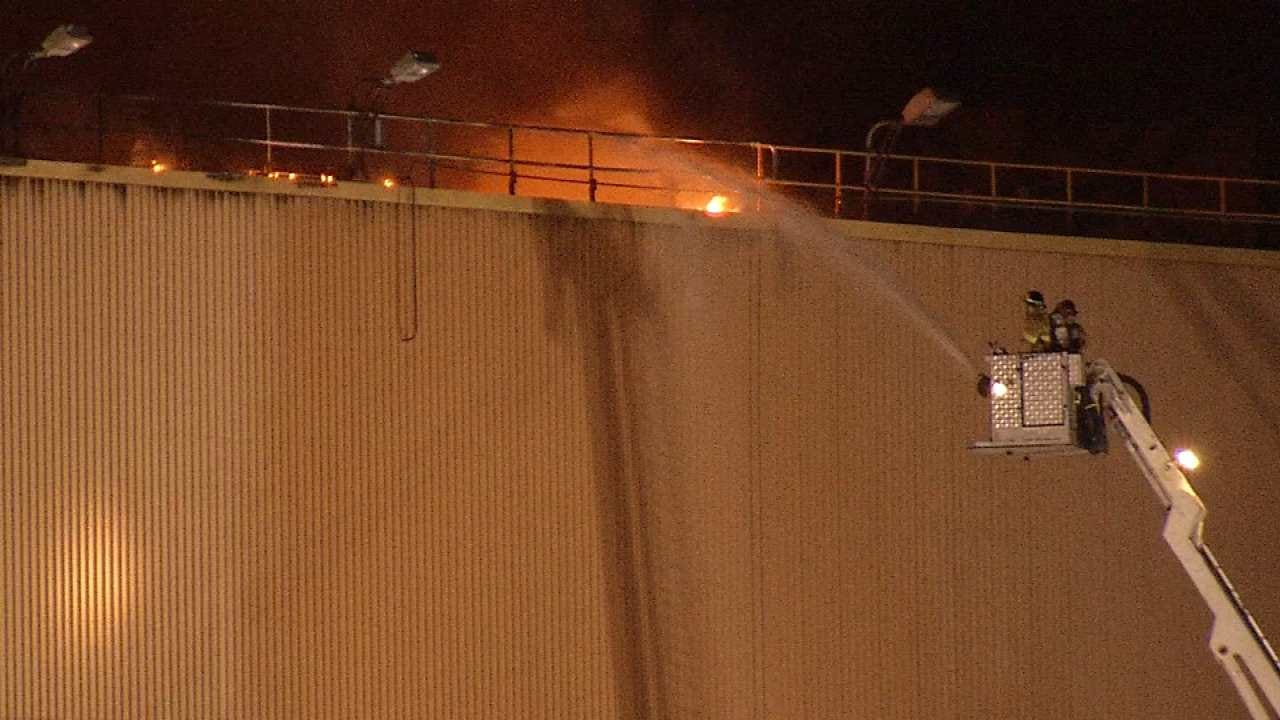 WEB EXTRA: Video Of The Fire Scene At The GRDA Power Plant