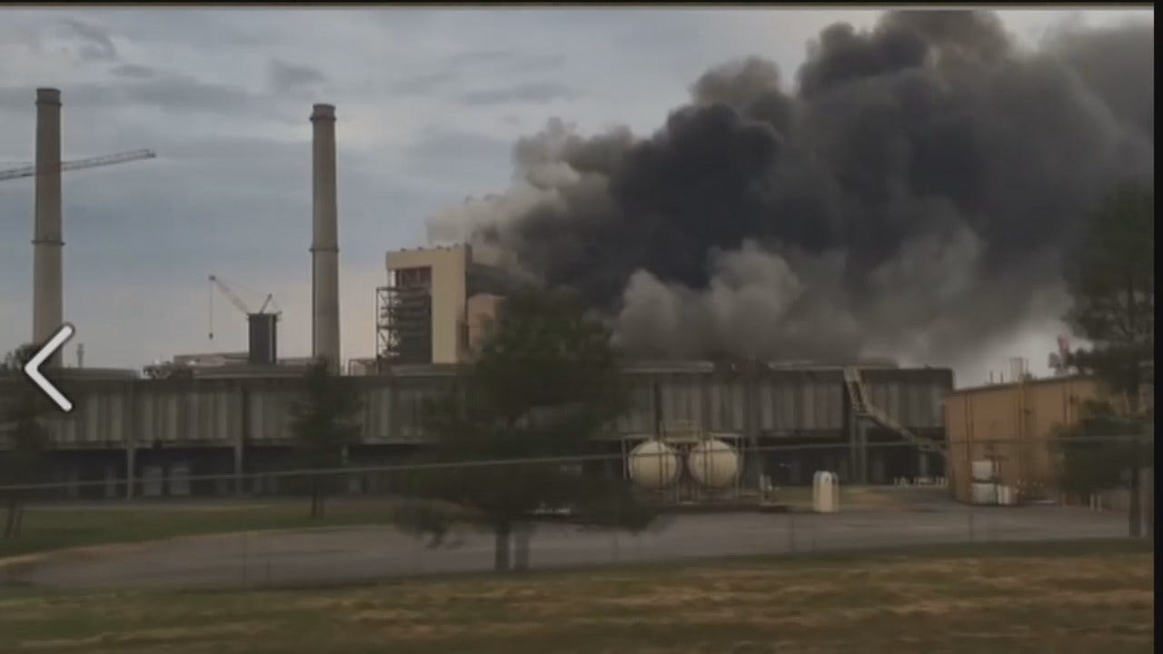 WEB EXTRA: News On 6 Viewer Jamie Dotson Video Of GRDA Plant Fire