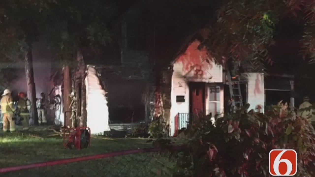 Joseph Holloway Reports From House Fire On North Delaware In Tulsa
