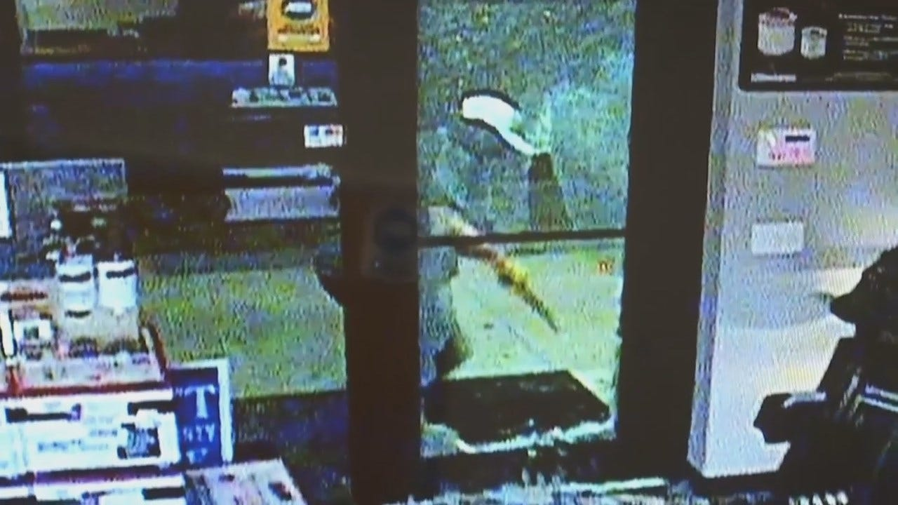 WEB EXTRA: Surveillance Video Released From Tulsa Business Burglary