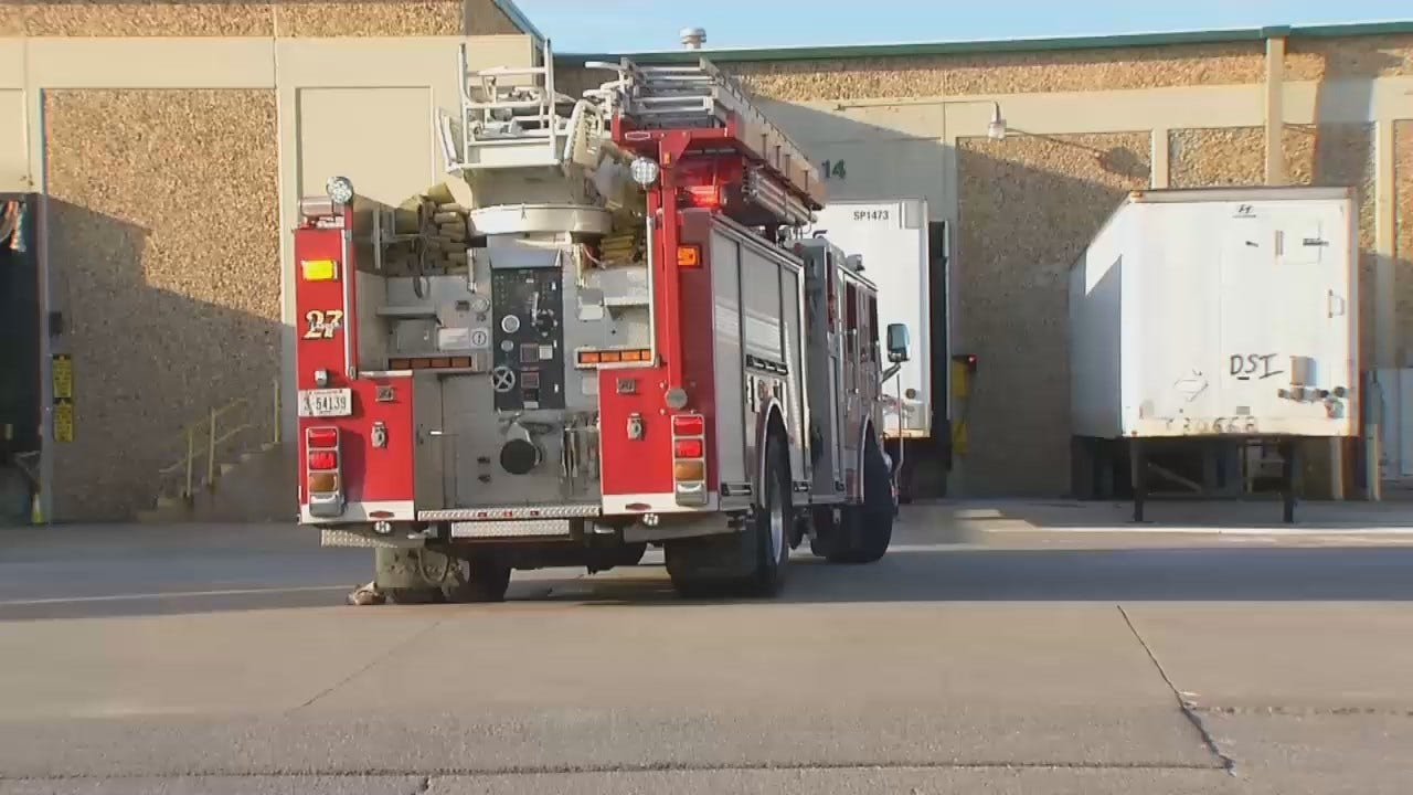 WEB EXTRA: Video From Scene Of Fire At Tulsa Business