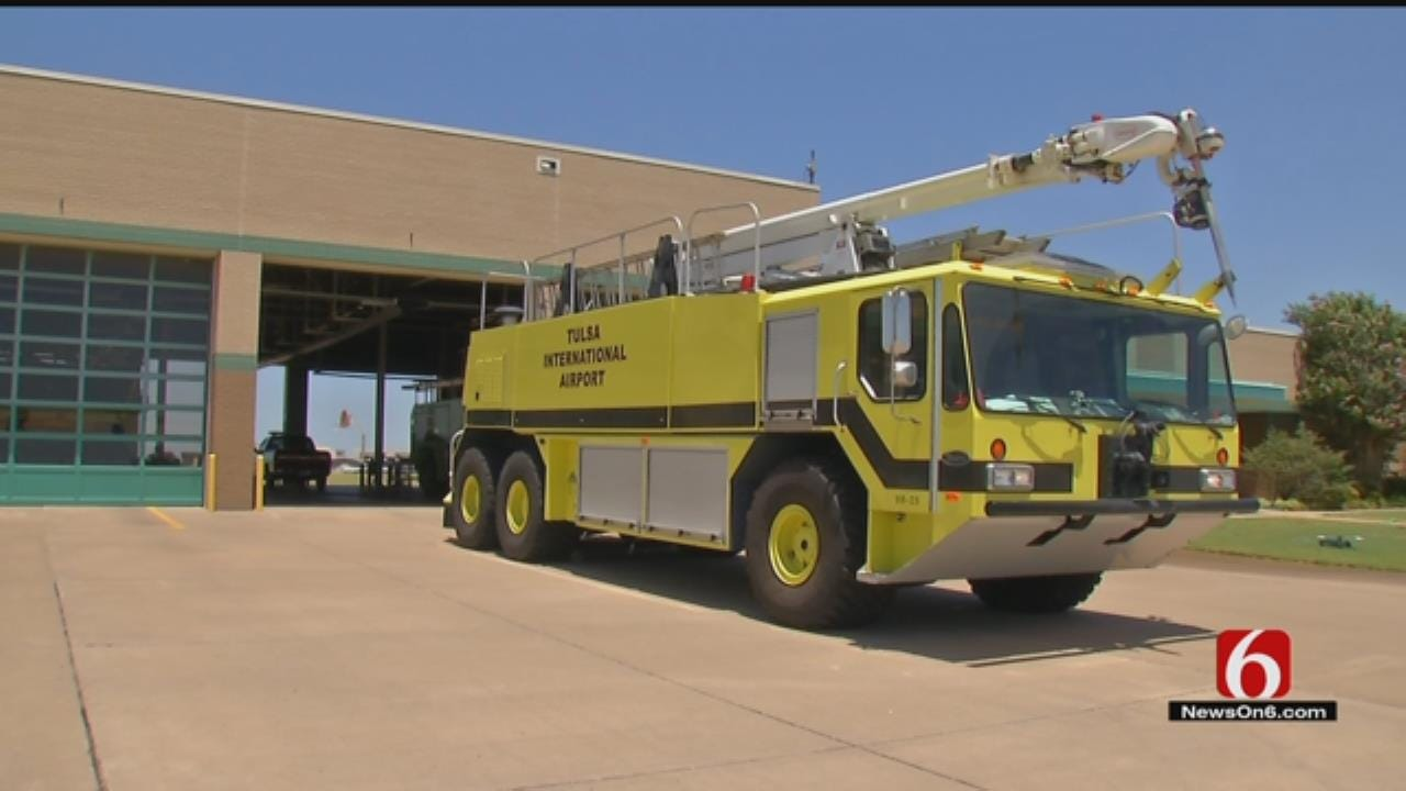 Tulsa International Airport To Auction Its Largest Fire Truck