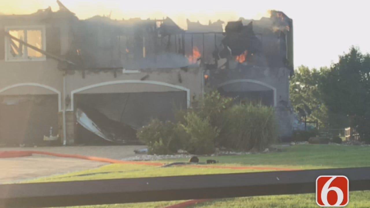 Joseph Holloway Reports From House Fire Near Verdigris