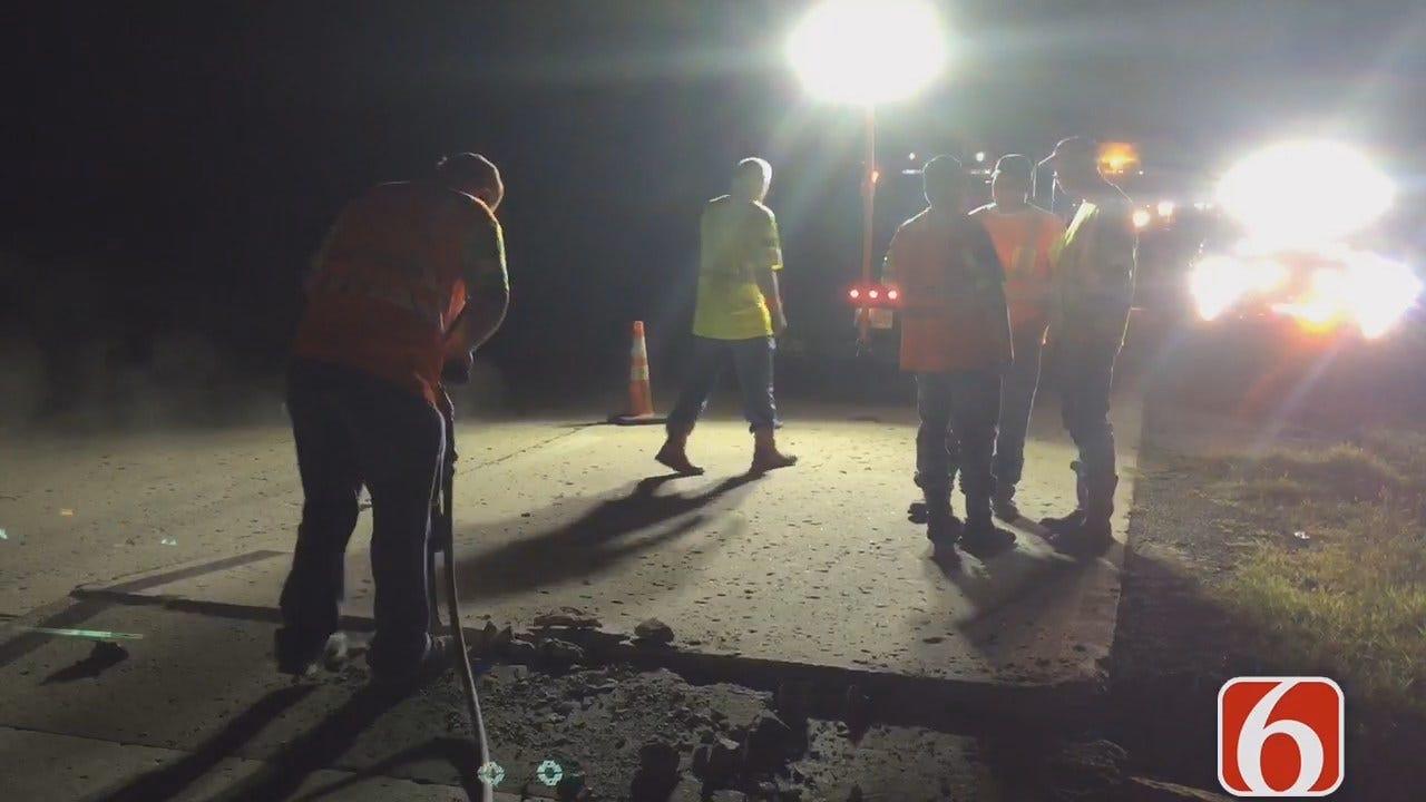 Darren Stephens Reports On Heat Buckling Interstate 40 Near Checotah