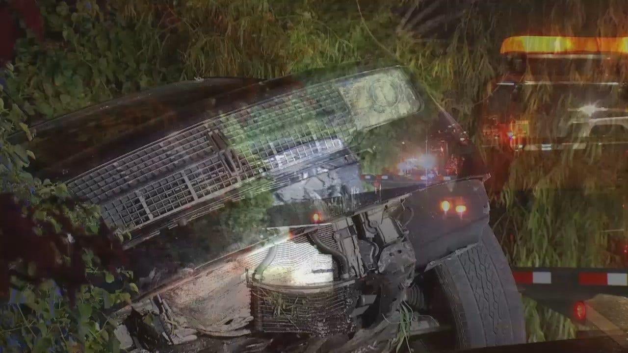 WEB EXTRA: Video From Scene Of Tulsa Crash On I-44