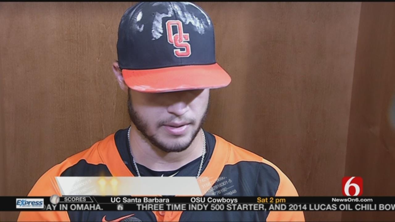 College World Series: OSU's Josh Holliday, Thomas Hatch Talk Facing UC Santa Barbara