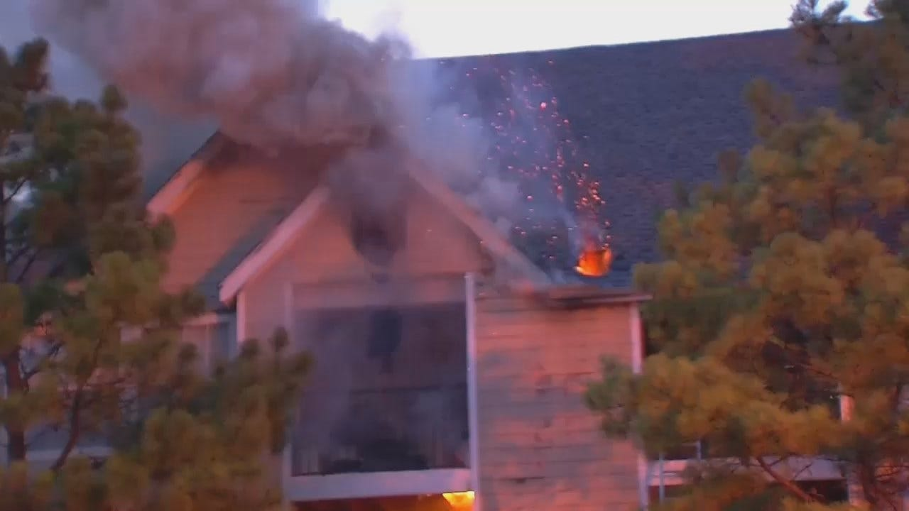 WEB EXTRA: Fire At South Tulsa Apartment Complex