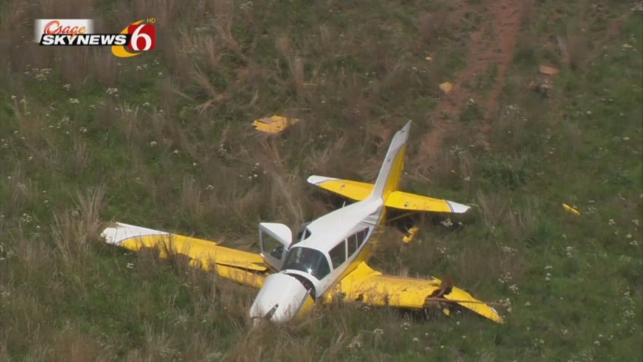 Osage SkyNews 6 HD: Plane Makes Hard Landing Near Keystone Lake
