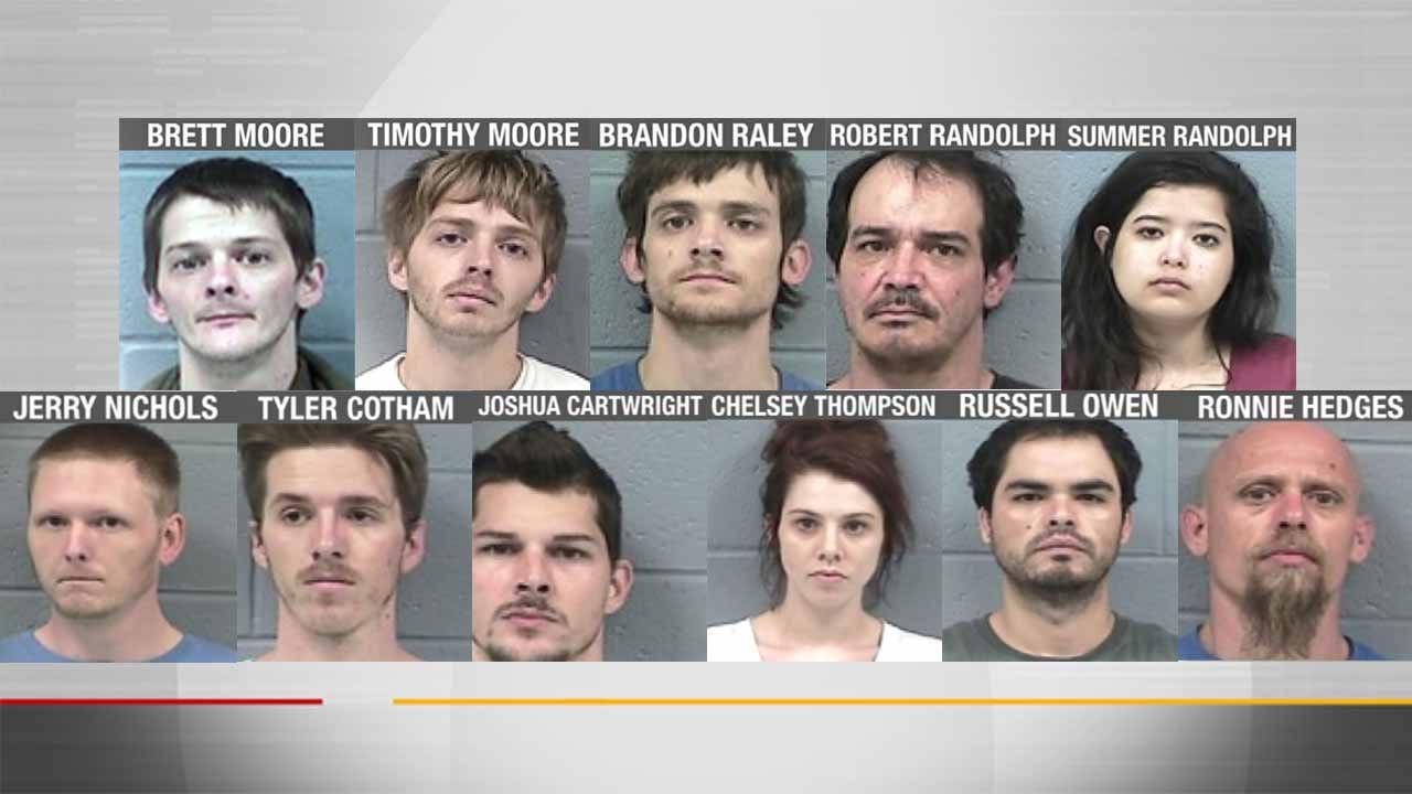 Lori Fullbright: Rogers County Deputies Arrest Dozen During Drug Bust