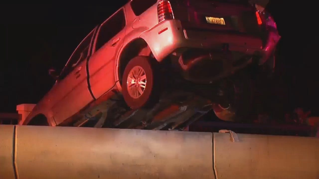 WEB EXTRA: Video From Scene Of 91st And Mingo Crash