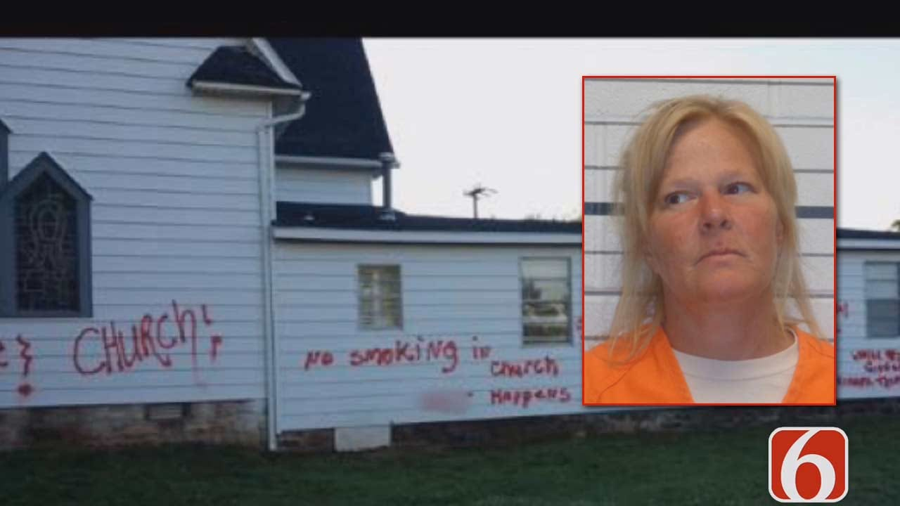 Tess Maune: Woman Charged With Spray Painting Depew Churches Says She Was 'Spreading Love'