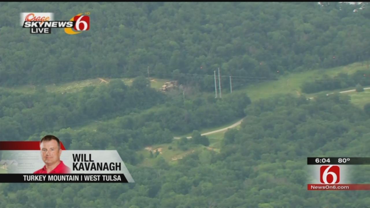 Osage SkyNews 6 HD Over Tulsa's Turkey Mountain