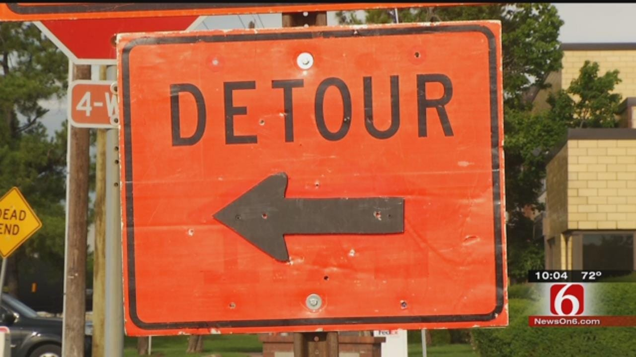 Drivers, Bicyclists Alike Feeling Impact Of West Tulsa Bridge Construction