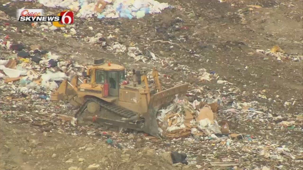 Osage SkyNews 6 HD Flies Over NE Tulsa Area Landfill