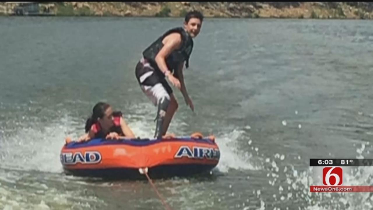 Dive Teams Searching Keystone Lake For Teen's Prosthetic Leg