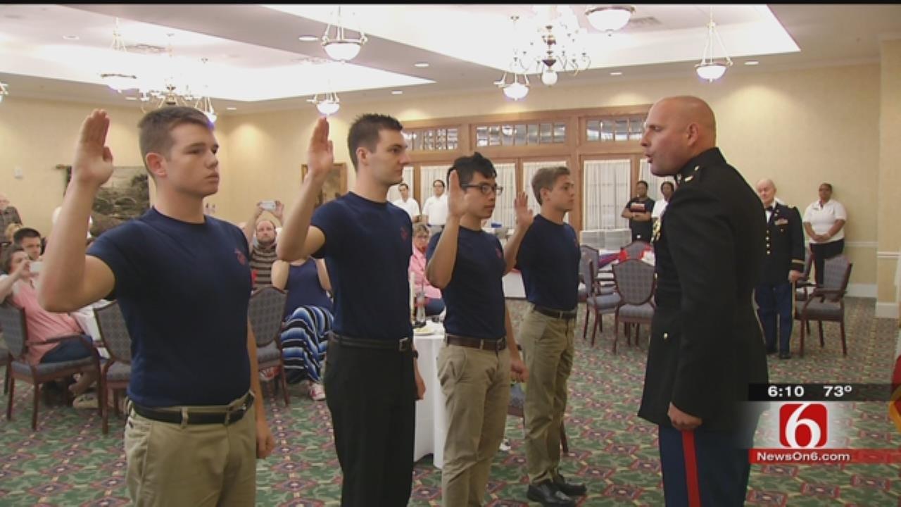 New Marines Enlist In Front Of Retired Tulsa Veterans
