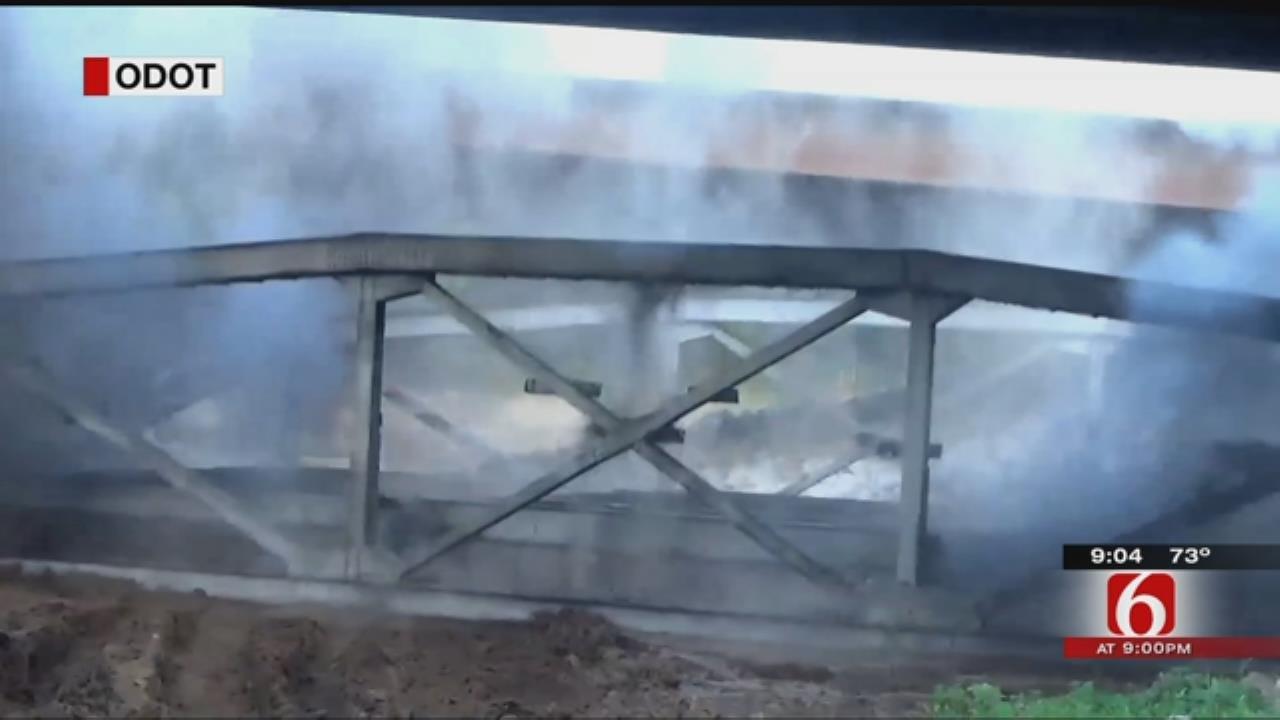 Crews Demolish Remaining Bird Creek Bridge