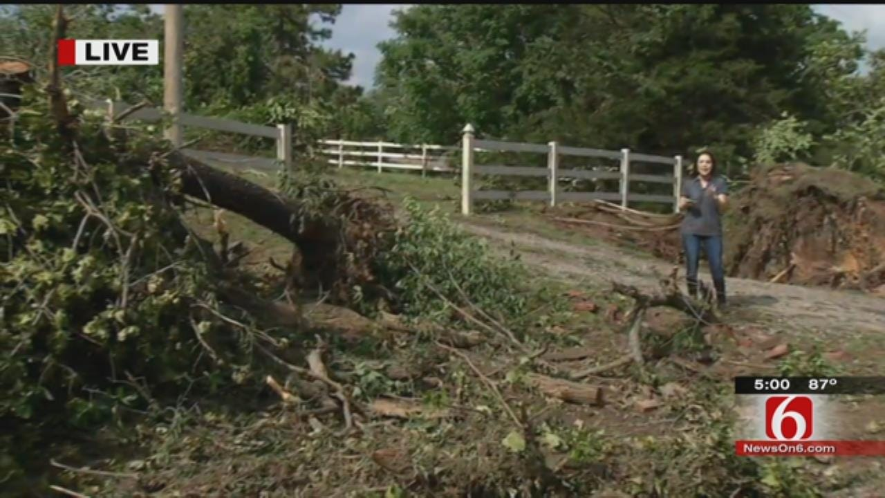 WEB EXTRA: Cleanup Begins In Bristow After Tornado Damage