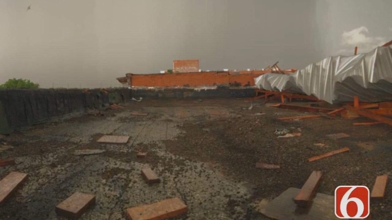 Dave Davis Says Winds Peel Back Roof Of Sapulpa Business