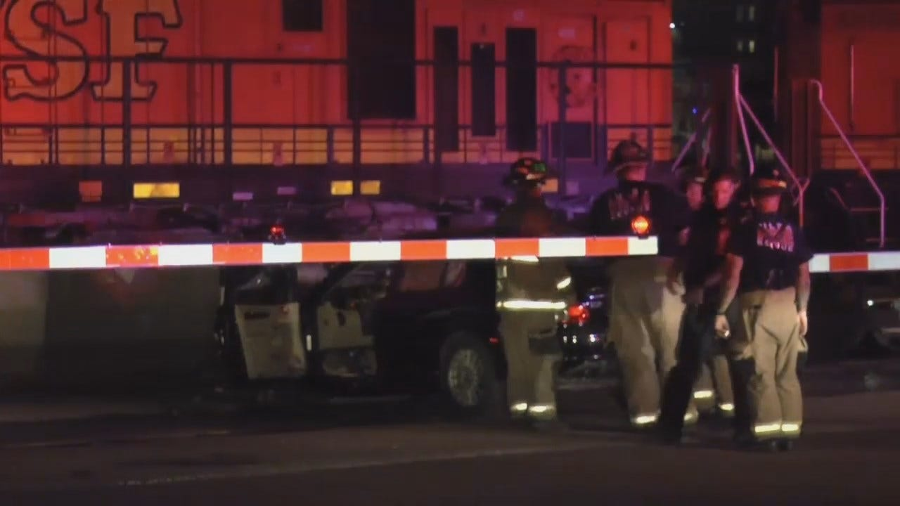 WEB EXTRA: Video From Scene Of Car-Train Crash In Downtown Tulsa