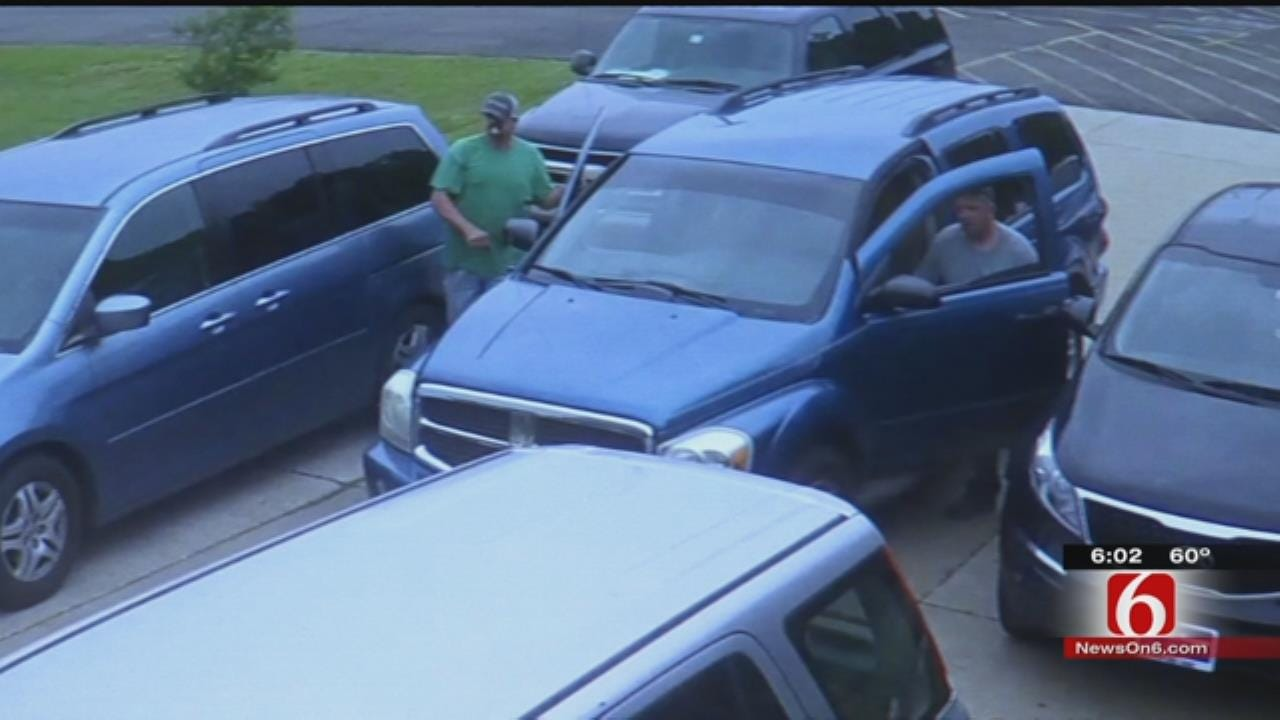 Burglars Caught On Tape In East Tulsa Church Parking Lot