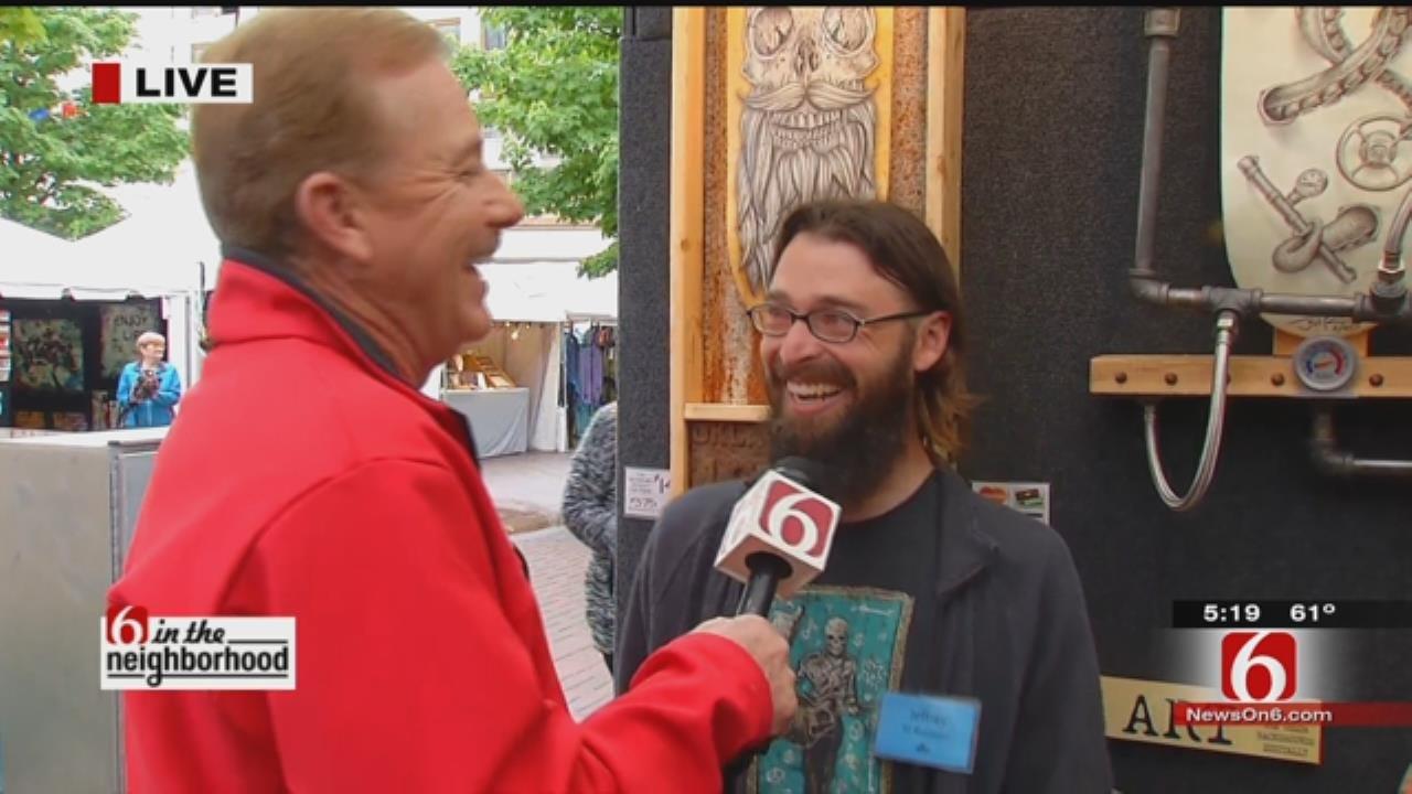 WEB EXTRA: Travis Meyer Speaks With Organizer, Artist At Mayfest
