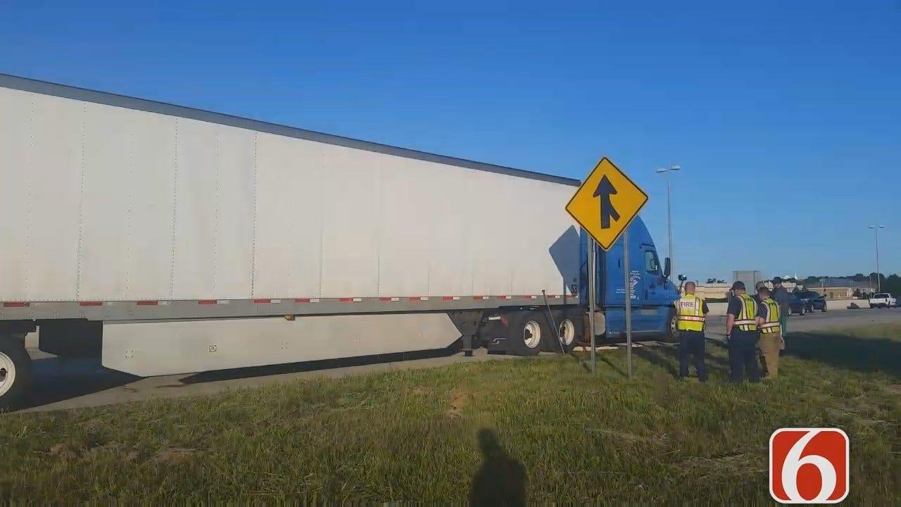 Dave Davis Reports Fuel Spill Slows Westbound Traffic On BA Expressway In Broken Arrow