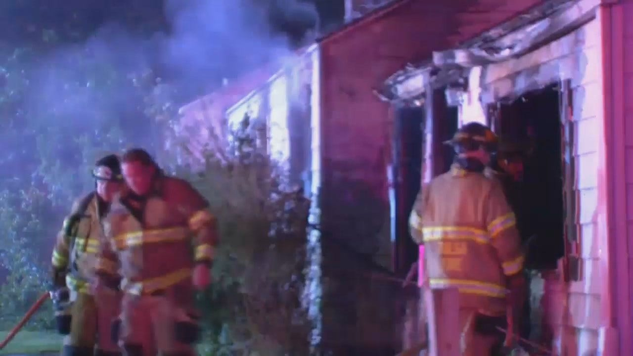 WEB EXTRA: Video From Scene Of Vacant House Fire