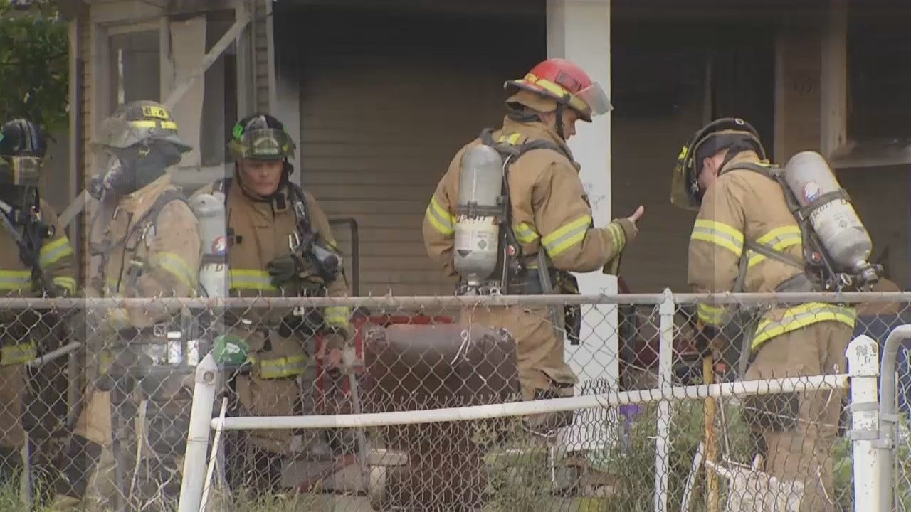 WEB EXTRA: Video From House Fire Near Downtown Tulsa