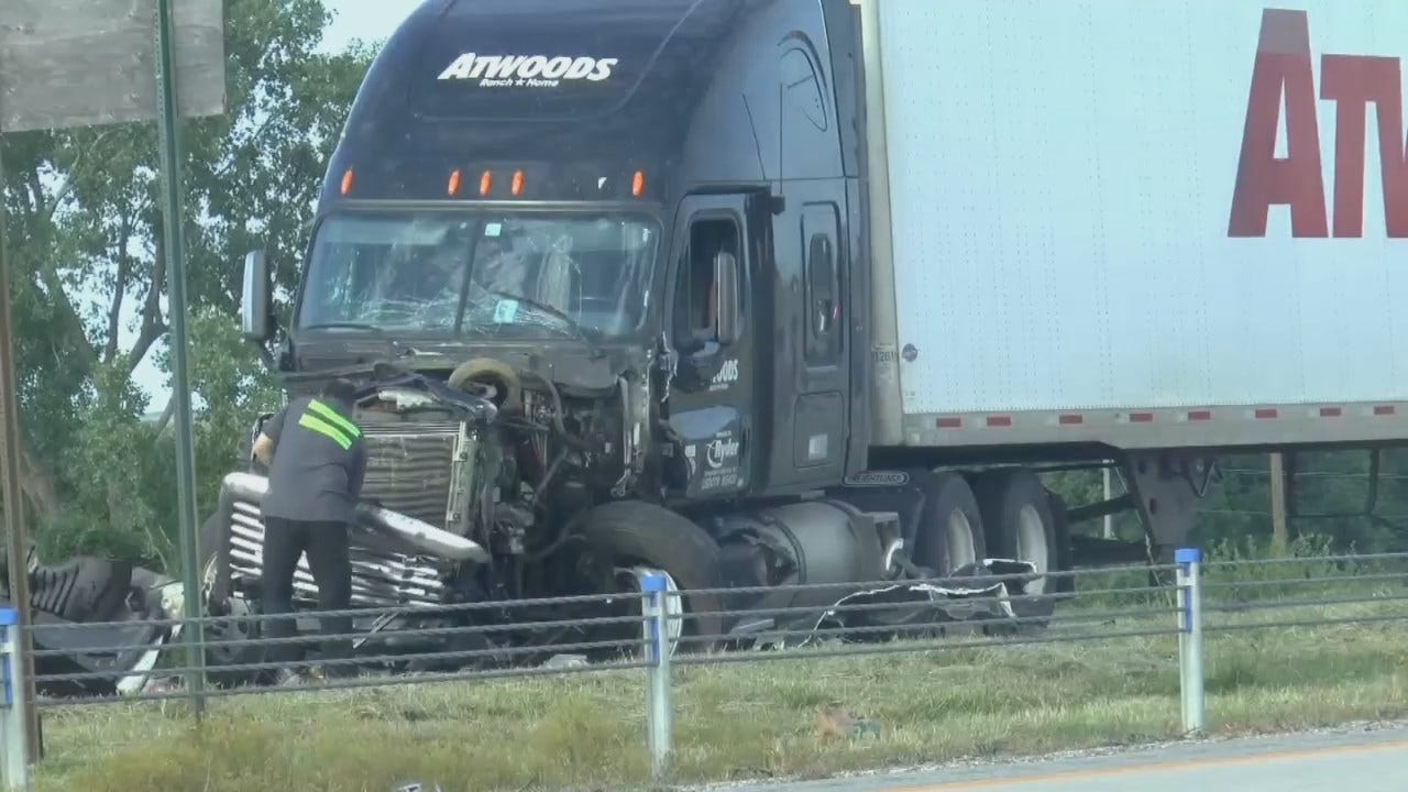 WEB EXTRA: Atwoods Truck, 4 Other Vehicles In Injury Crash