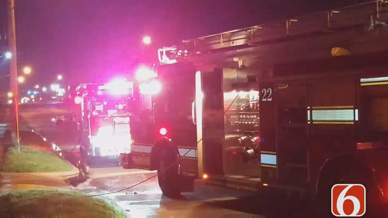 Dave Davis Reports From Tulsa Apartment Fire