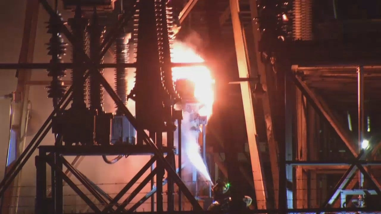 WEB EXTRA: Video Of Oologah Electric Transformer Fire