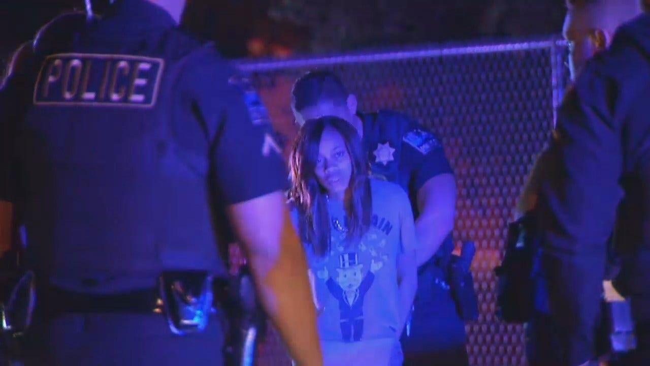 WEB EXTRA: Tulsa Police Arrest 4 Women In Allegedly Stolen Car