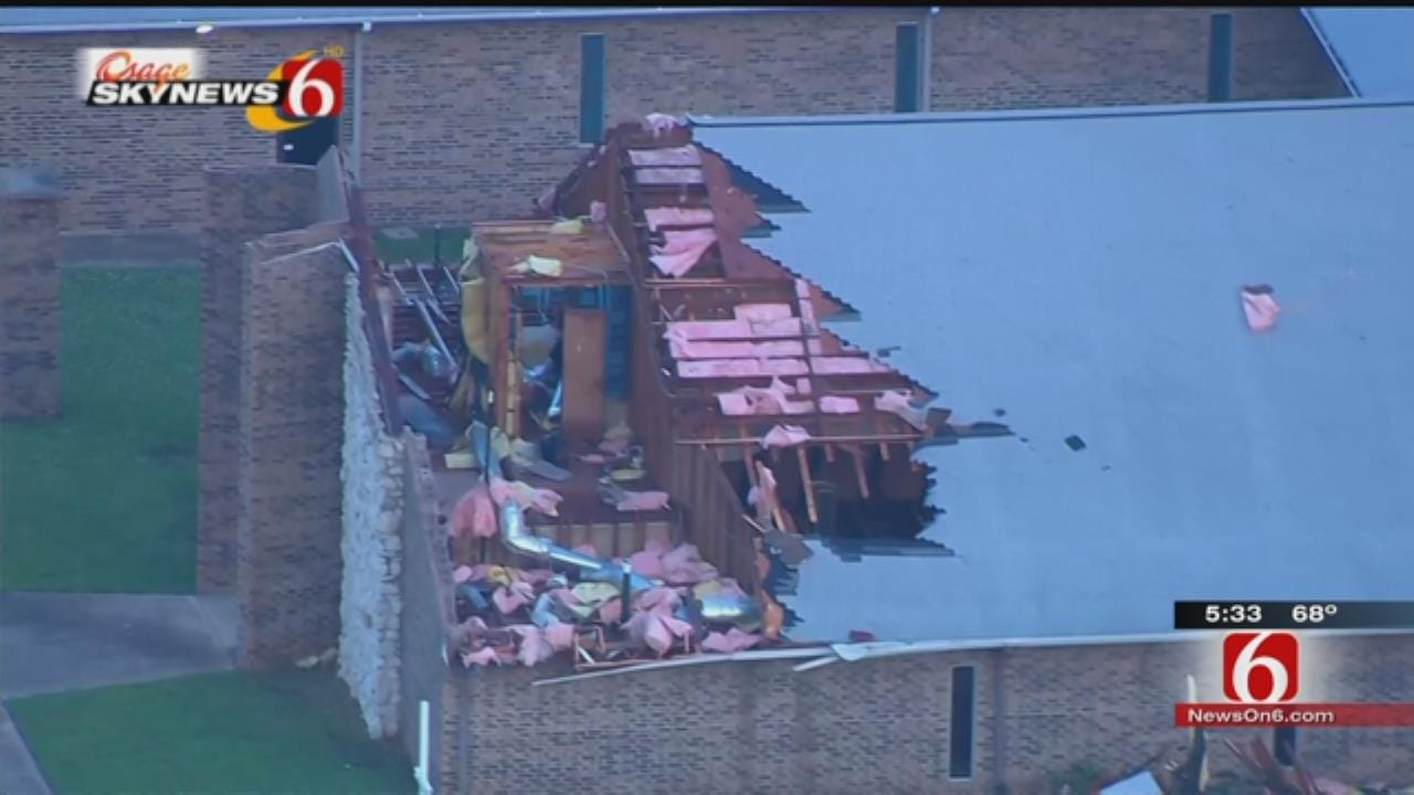 Tornado Doesn't Keep Tulsa Church From Worship