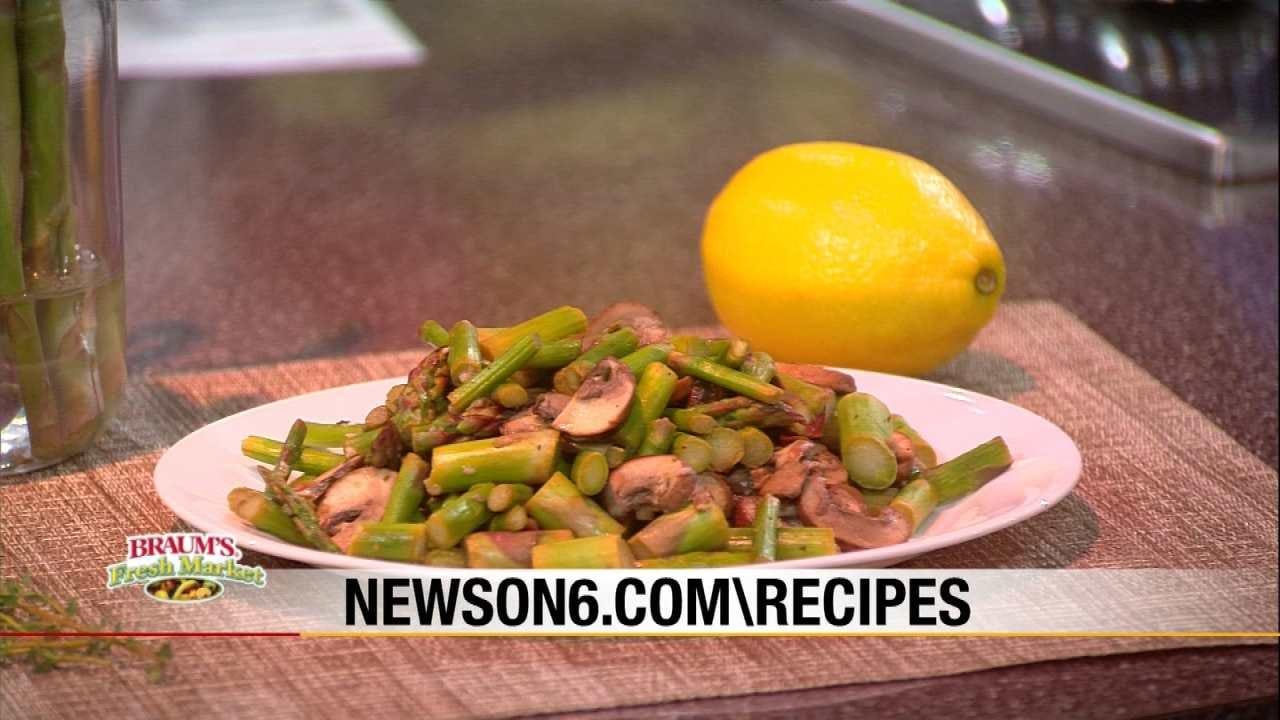 Lemony Asparagus With Mushrooms & Thyme