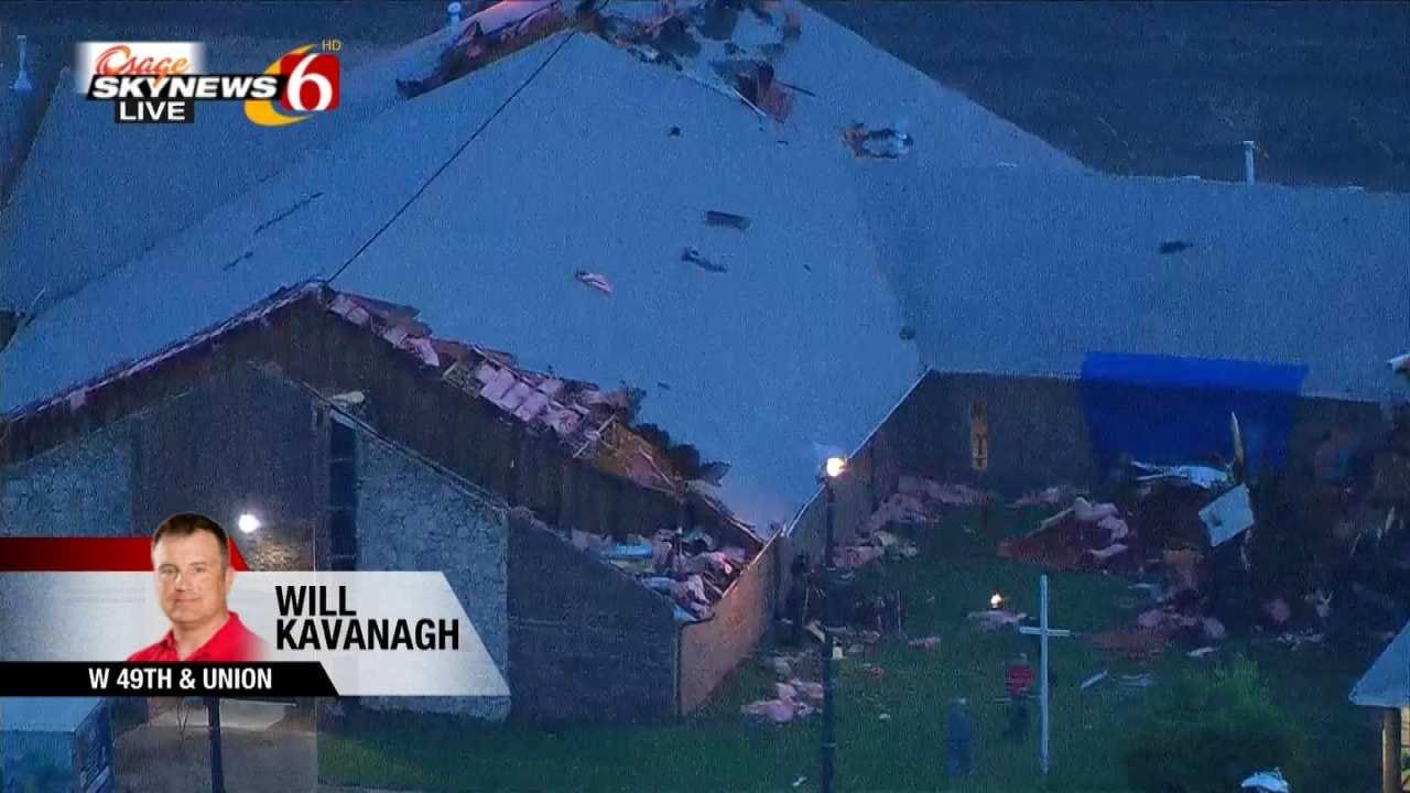 Osage SkyNews 6 HD Flies Over West Tulsa Storm Damage