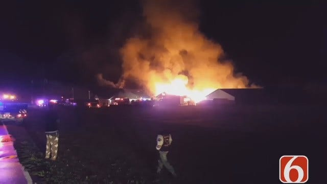 WEB EXTRA: Video Of Washington County Business Fire