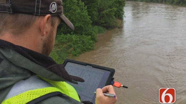 Emory Bryan On USGS Using Sonar 'Profiler' To Check Stream Flow