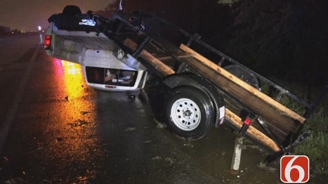 Gary Kruse: Pickup Hydroplane, Flips On Highway 75