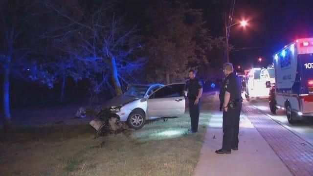 WEB EXTRA: Video From Scene Of Midtown Tulsa Crash