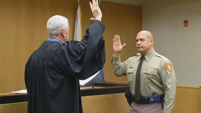 WEB EXTRA: Tulsa County Sheriff Vic Regalado Sworn Into Office