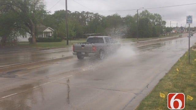 Gary Kruse Reports On Tulsa Water Line Break