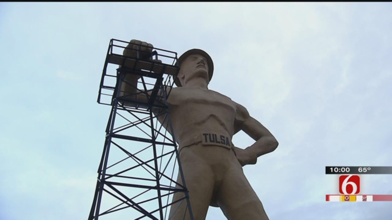 Tulsa's Golden Driller Has Blowout 50th Birthday Party