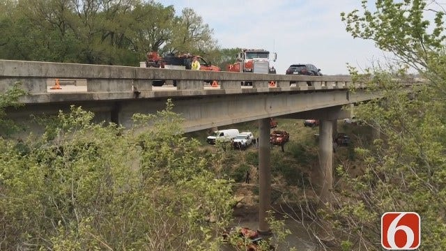 Erin Conrad Reports Pickup Went Off Highway 75 Crashing Into The Caney River